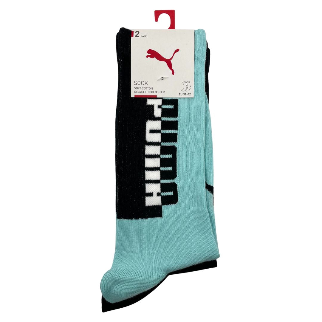 Puma Men's Seasonal Sock 2 Pack - Blue/Black SP-Accessories-Socks Puma