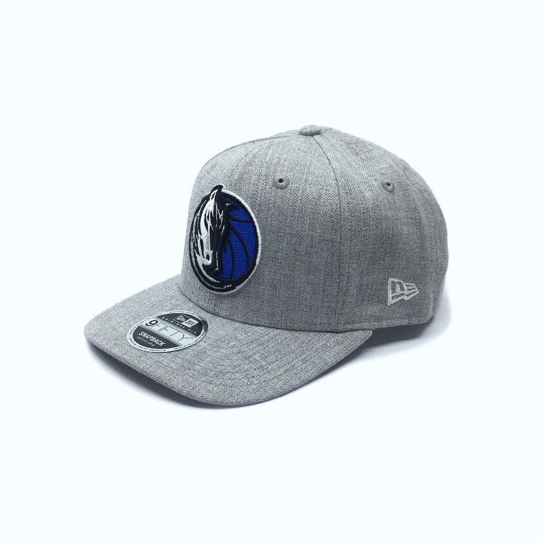 New Era 9FIFTY Heather Drop Pre-Curved - Dallas Mavericks SP-Headwear-Caps New Era