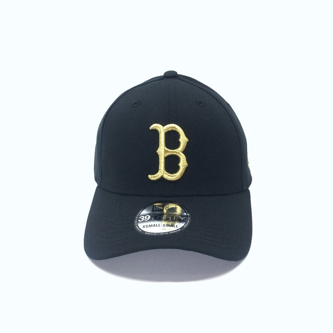 New Era 39THIRTY Gold Special Stretch Fit - Boston Red Sox SP-Headwear-Caps New Era