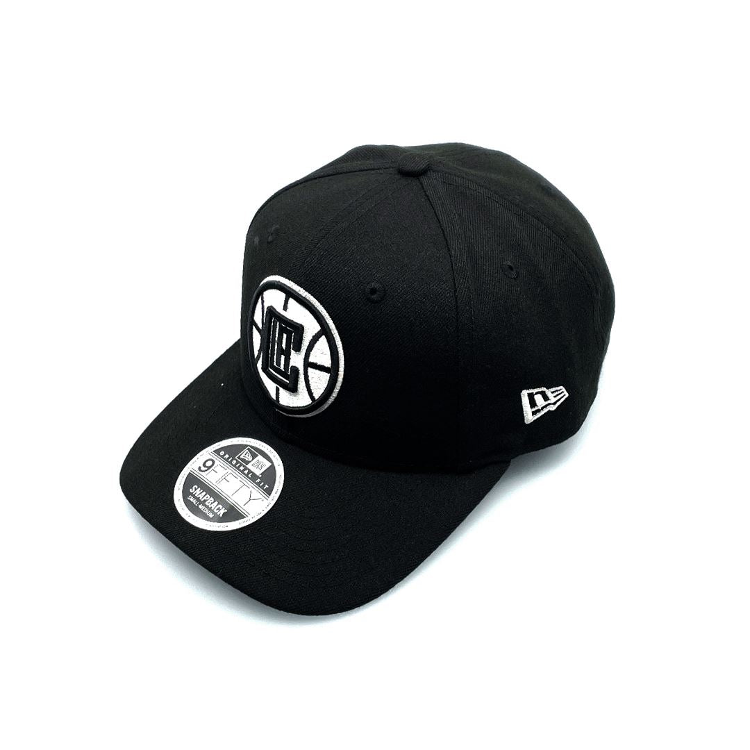 New Era 9FIFTY Original Fit LA Clippers - Black/White SP-Headwear-Caps New Era