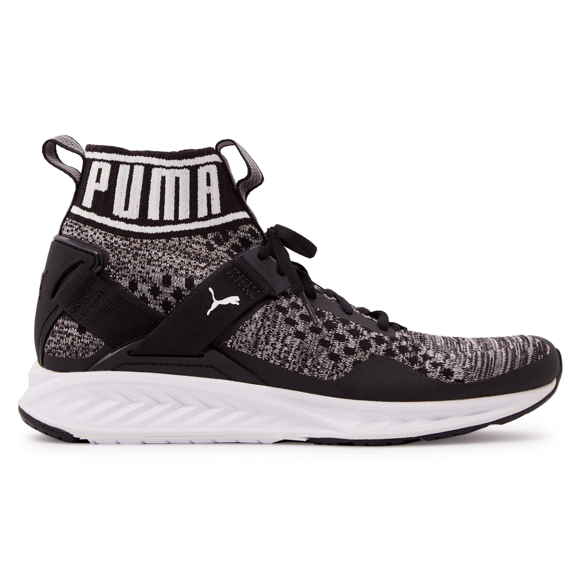 Puma Mens Ignite Evoknit - Black/Quite Shade Footwear Puma  (2122603692091)