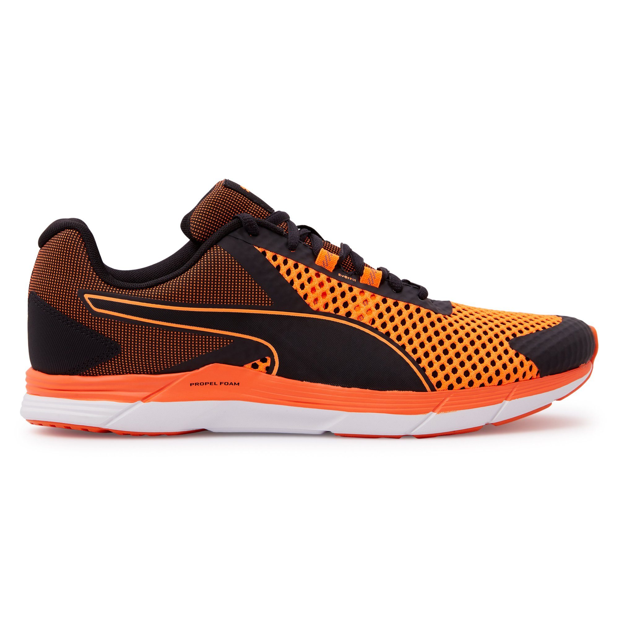Puma Mens Propel 2 - Black-Shocking Orange Puma