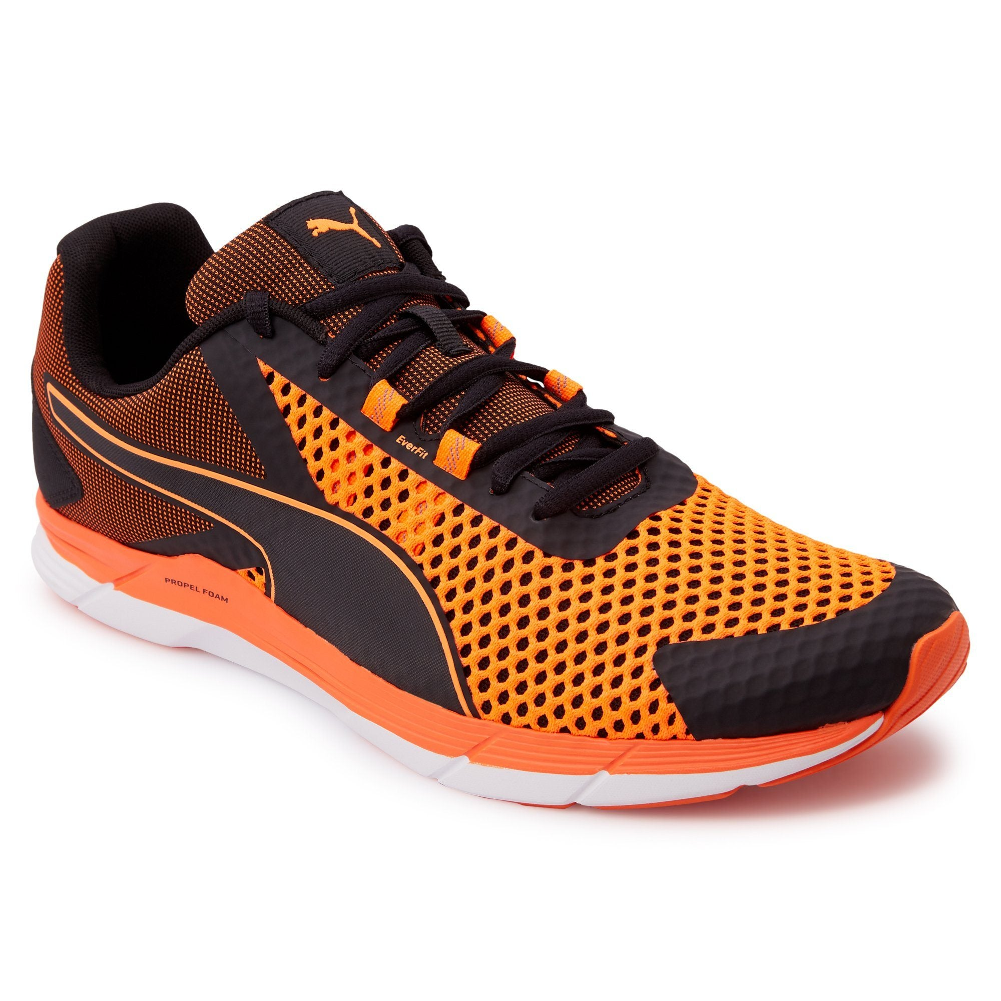 Puma Mens Propel 2 - Black-Shocking Orange Puma  (2122603855931)
