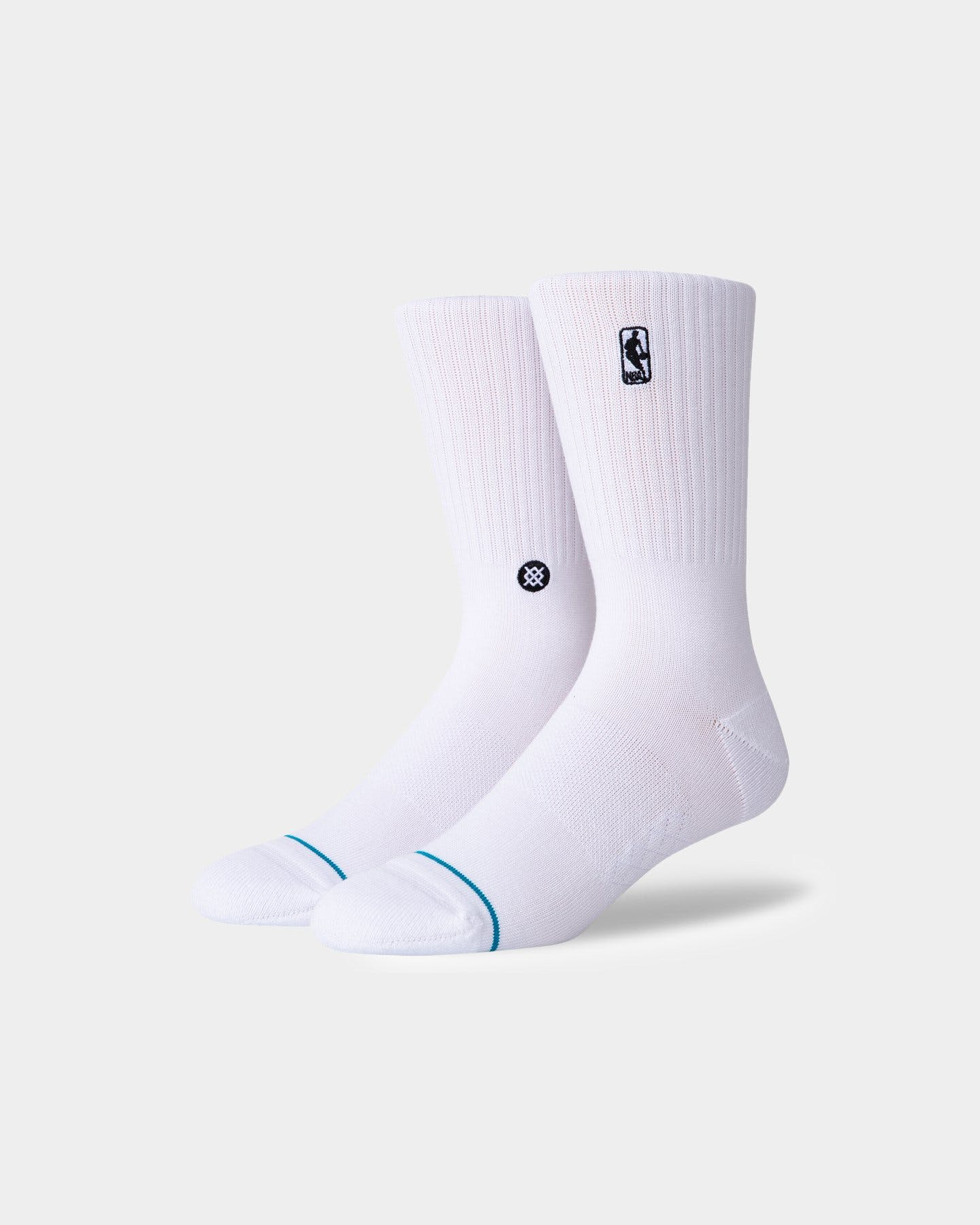 Stance NBA Logoman ST Socks - White SP-ApparelSocks-Mens Stance