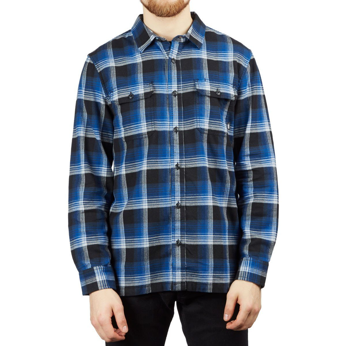 Vans Men's Anti Hero Wired Flannel - True Blue-Black SP-ApparelShirts-Mens Vans