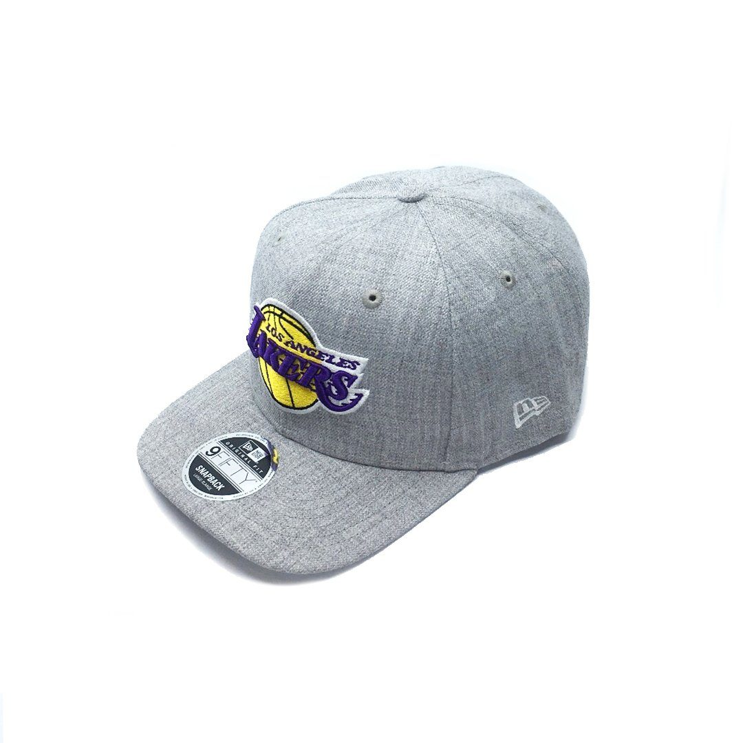New Era 9FIFTY Heather Drop Pre-Curved - LA Lakers SP-Headwear-Caps New Era