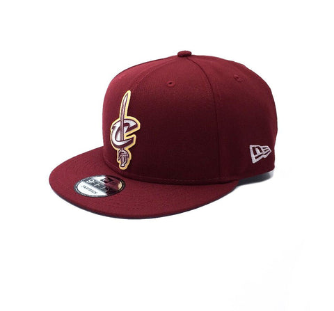 New Era 9Fifty Cleveland Cavaliers Snapback - Maroon SP-Headwear-Caps New Era