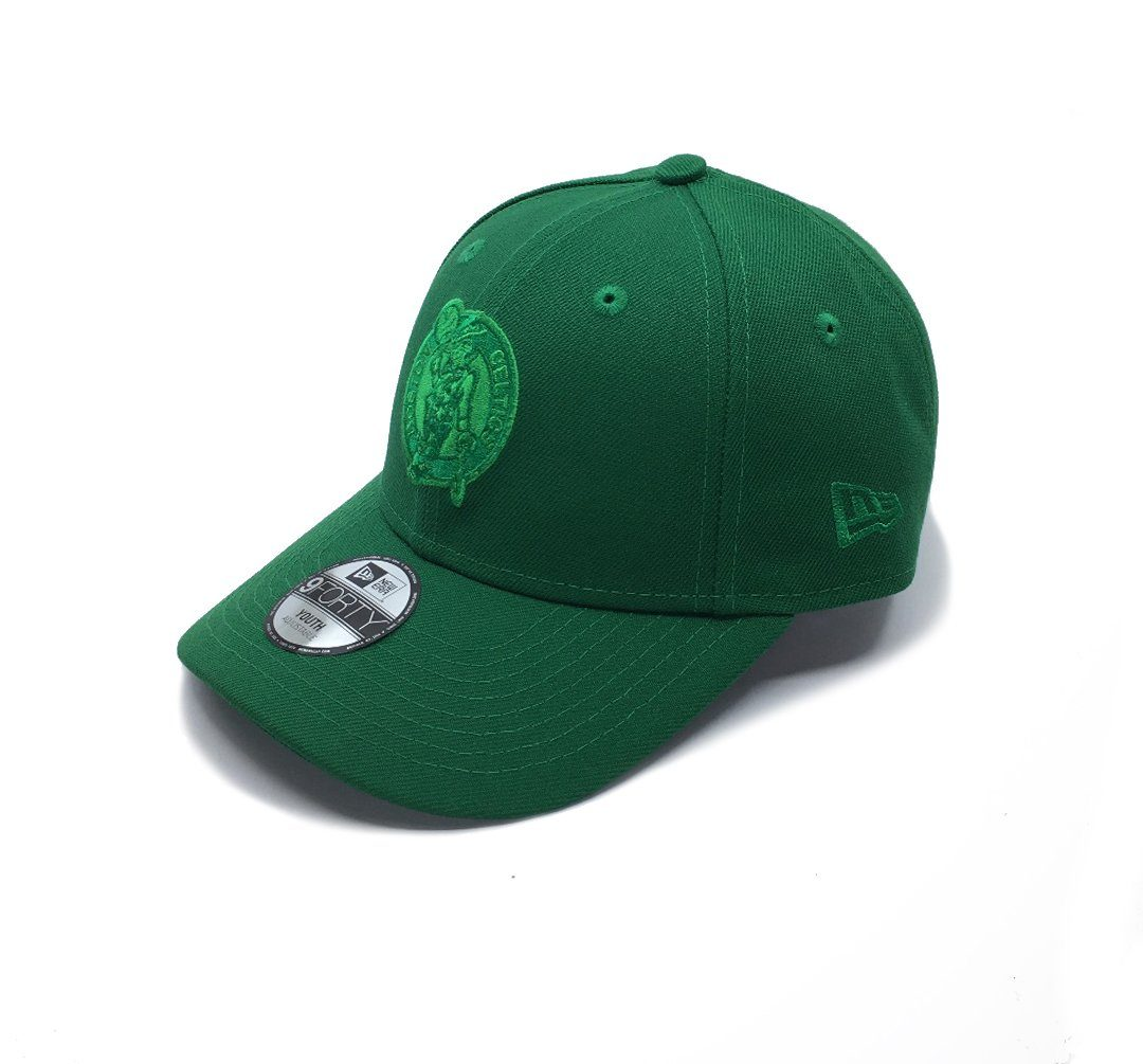 New Era 9FORTY Youth Boston Celtics Q120 Adjustable - Green SP-Headwear-Caps SportsPower Geelong
