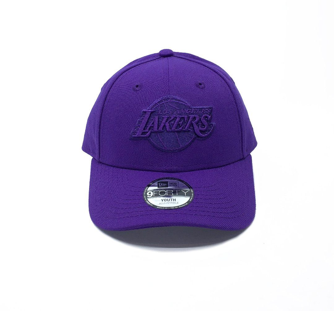 New Era 9FORTY Youth LA Lakers Q120 Adjustable - Purple SP-Headwear-Caps SportsPower Geelong