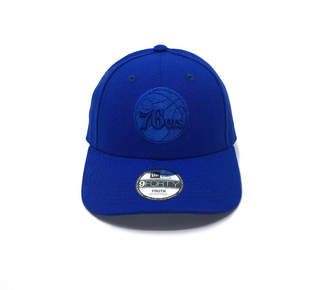 New Era 9FORTY Youth Philadelphia 76ers Q120 Adjustable - Blue SP-Headwear-Caps SportsPower Geelong