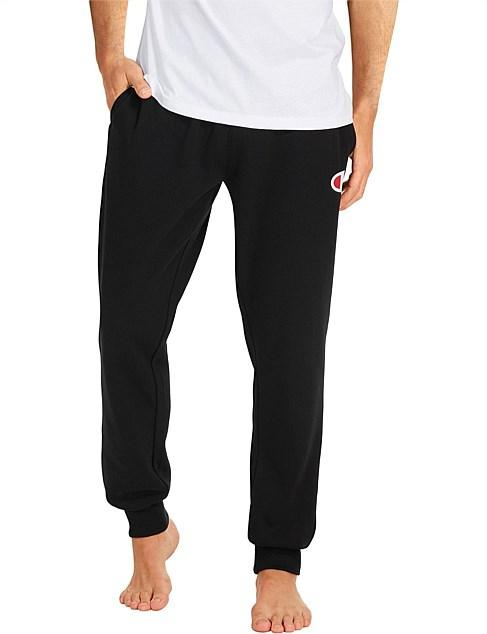 Champion Men's CF C Logo Cuff Pant - Black