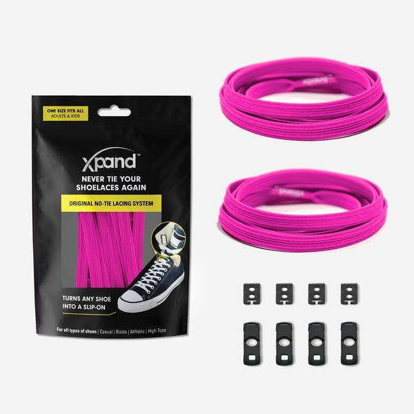 Xpand Original No-Tie Lacing System - Neon Pink SP-Accessories-Laces Xpand