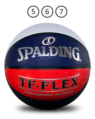 SPALDING TF-FLEX SZ 6 OUTDOOR BALL-RED/WHITE/BLUE SP - Balls Russell Corp