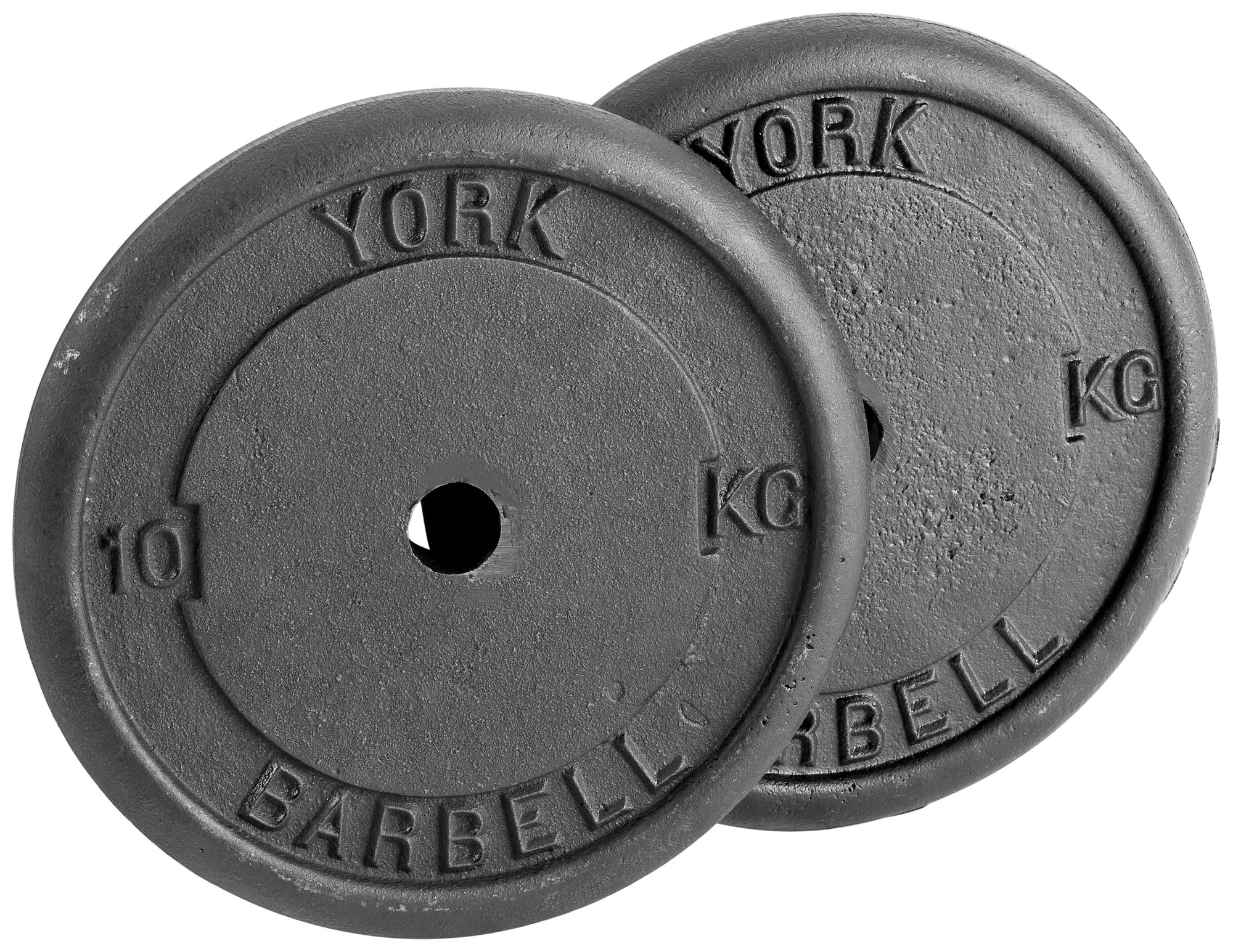 York 10kg Cast Iron Disc (Sold Individually)