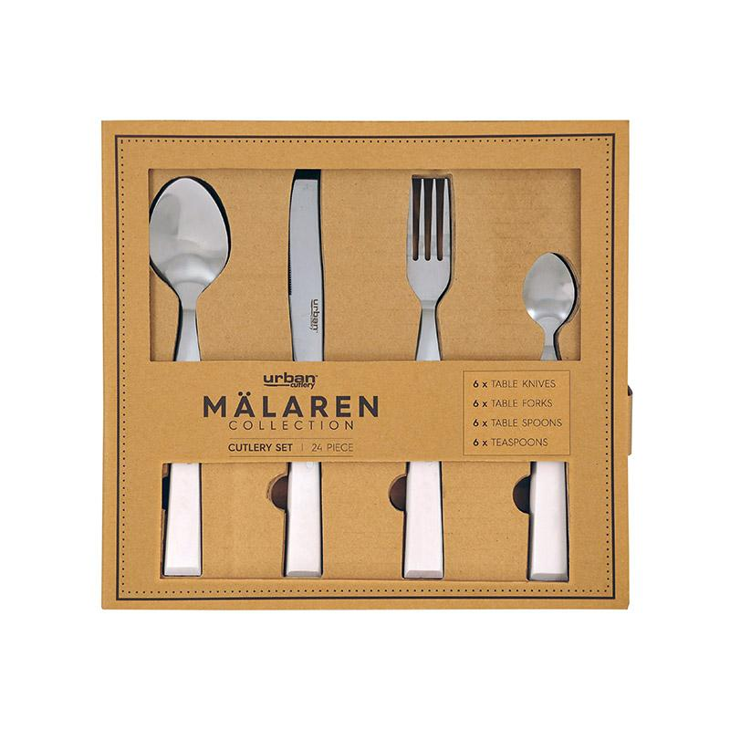 Urban Cutlery Malaren 24p Cutlery Set - White Kitchenware Isbister & Co Wholesale