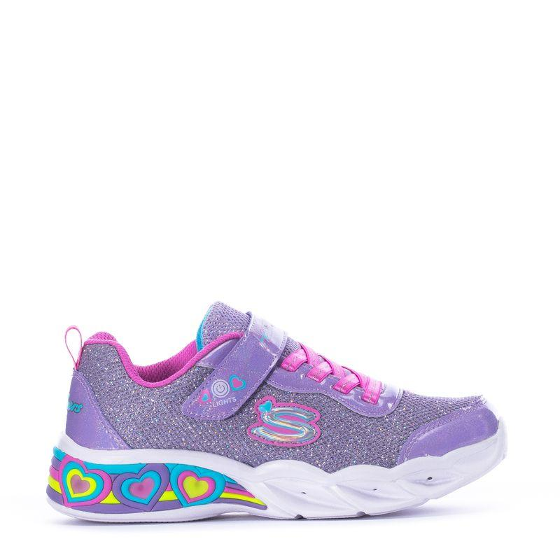 Skechers Sweetheartlights Shimmerspells - Lavender/Multi SP-Footwear-Kids Skechers