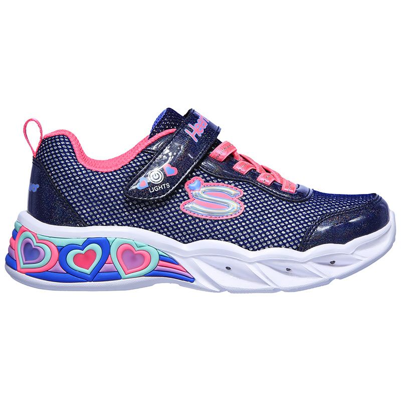 Skechers Sweetheart Lights Shimmer Spells - Navy/Multi SP-Footwear-Kids Skechers