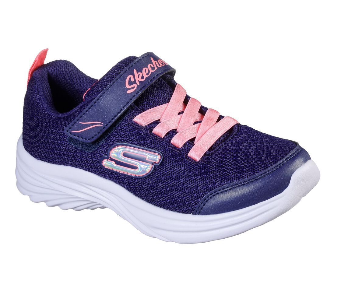 Skechers Girls Dreamy Dancer Miss Minimalistic - Navy/Coral SP-Footwear-Kids Skechers