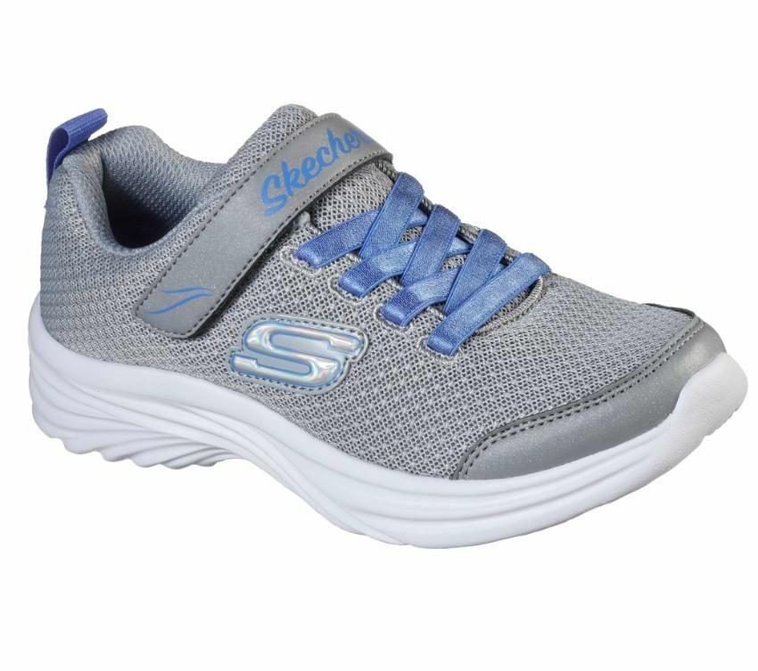 Skechers Girls Dreamy Dancer Miss Minimalistic - Grey Blue SP-Footwear-Kids Skechers