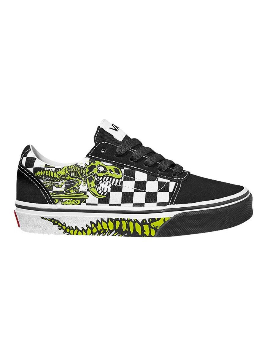 Vans Ward Youth (Dino Bonez) - Black/White SP-Footwear-Kids Vans