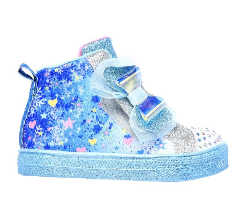 Skechers Shuffle Lite - Let It Sparkle - Blue/Multi SP-Footwear-Kids Skechers