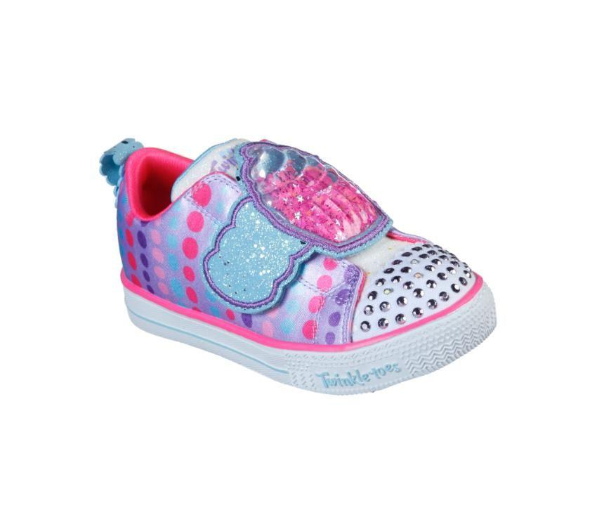 Skechers Kids Shuffle Lites - Sparkle Treats - Lavender/Multi SP-Footwear-Kids Skechers
