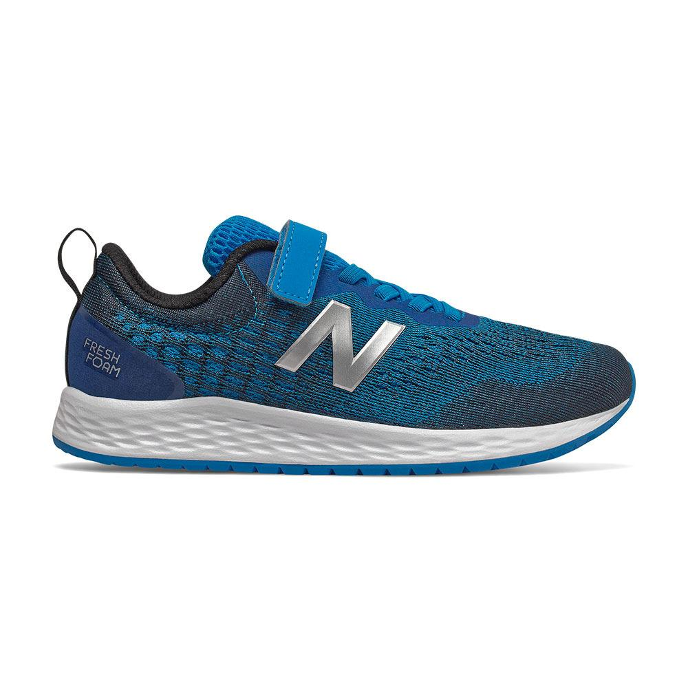 New Balance Kid's Fresh Foam Arishi v2 Running Shoe Velcro - Vision Blue/Natural Indigo/Neo Mint SP-Footwear-Kids New Balance