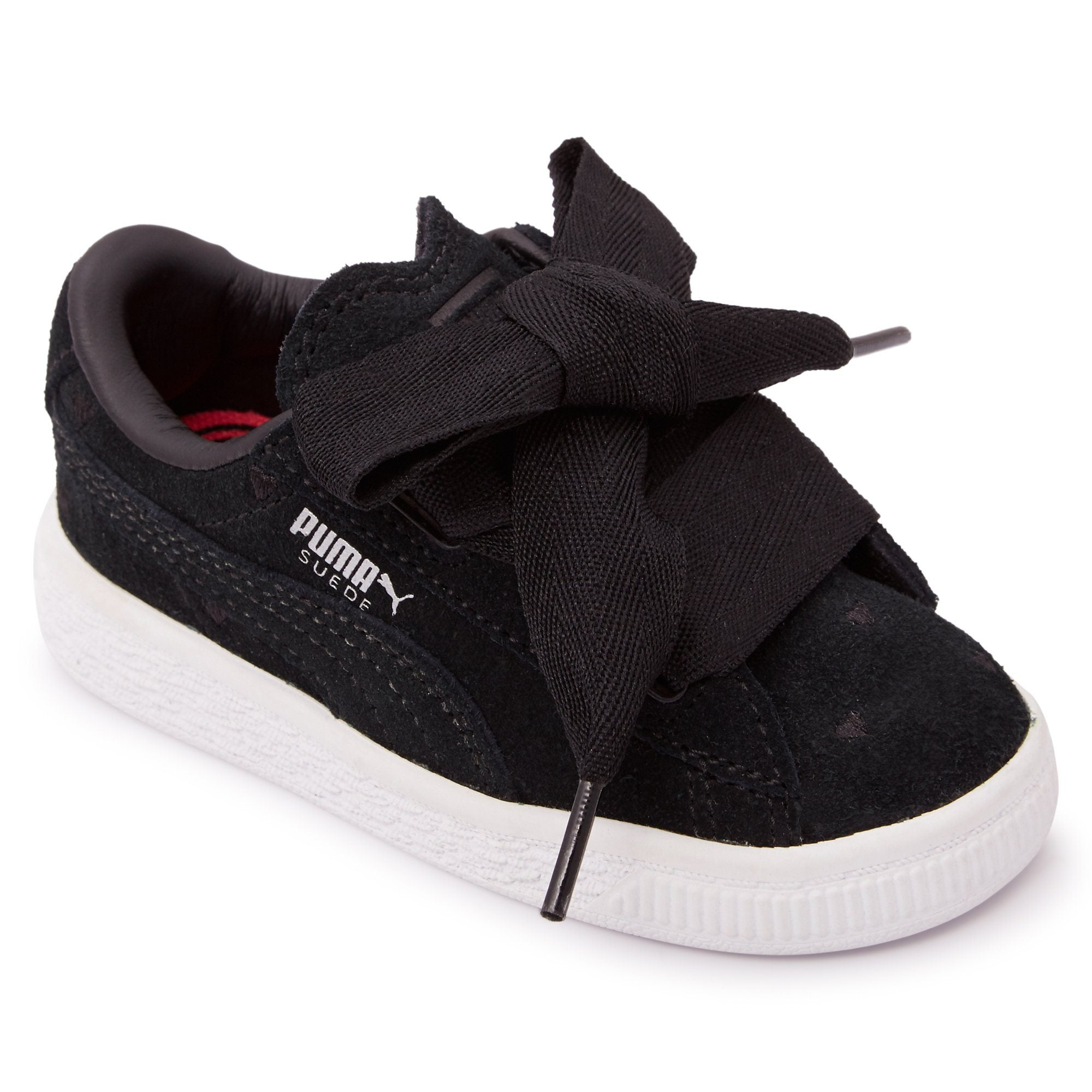 Puma Infants Suede Heart Valentine - Black Footwear Puma  (2122603364411)