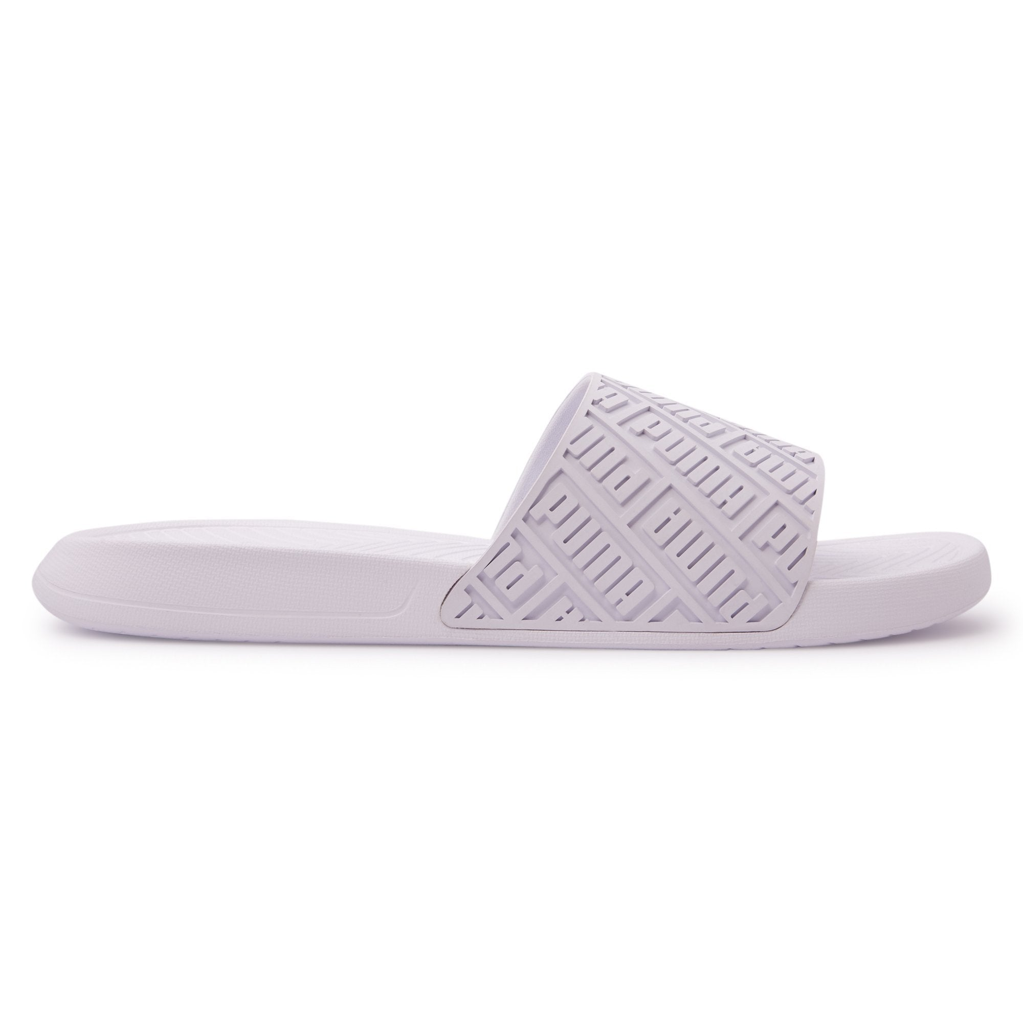 Puma Mens Popcat Rubber Slide - White- White SP-Footwear-Slides Puma  (2122604576827)