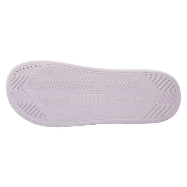 Puma Mens Popcat Rubber Slide - White- White SP-Footwear-Slides Puma