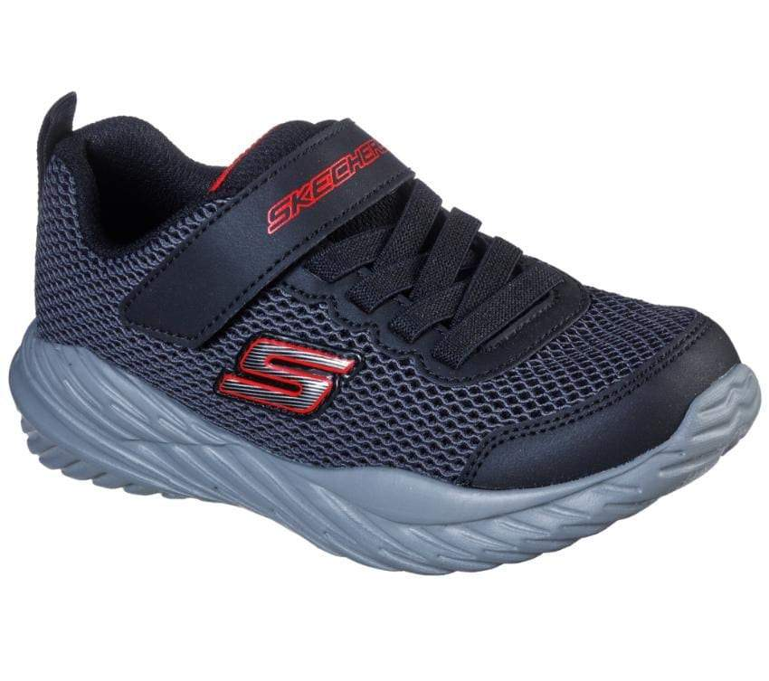 Skechers Boys Nitro Sprint - Krodon - Black/Grey/Red SP-Footwear-Kids Skechers