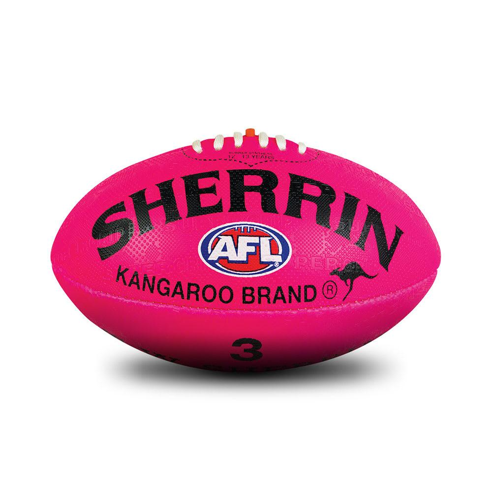 Sherrin Synthetic AFL Ball - Pink (Sz 3) SP-Balls Sherrin