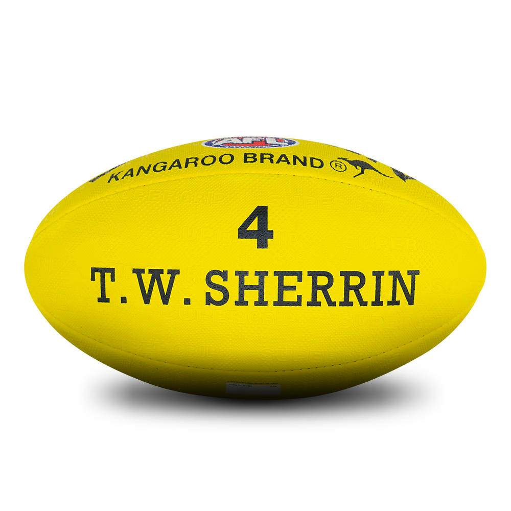 Sherrin Synthetic AFL Ball - Yellow (Sz 4) SP-Balls Sherrin