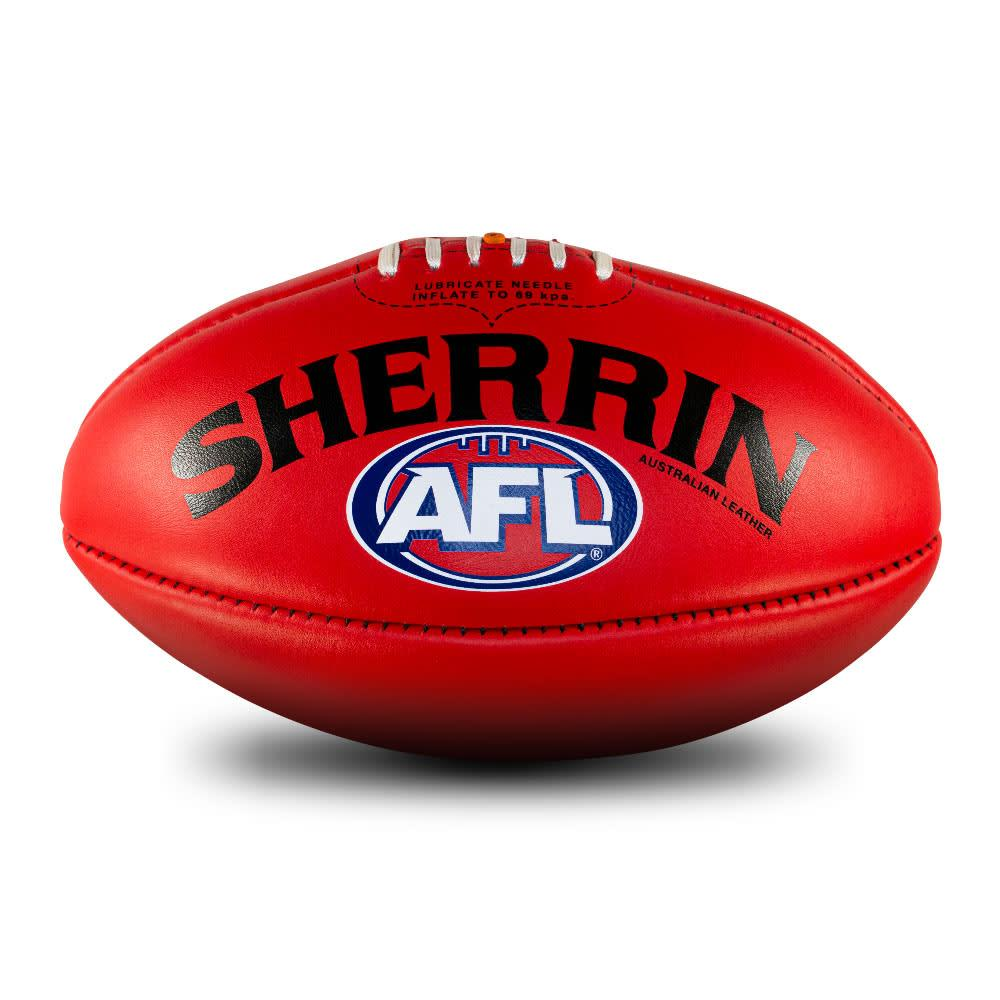 Sherrin AFL Team Leather Ball - Size 5 - Geelong Cats
