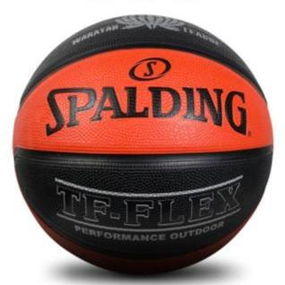 Spalding TF-Flex Outdoor Basketball (Black/Orange) - Size 7