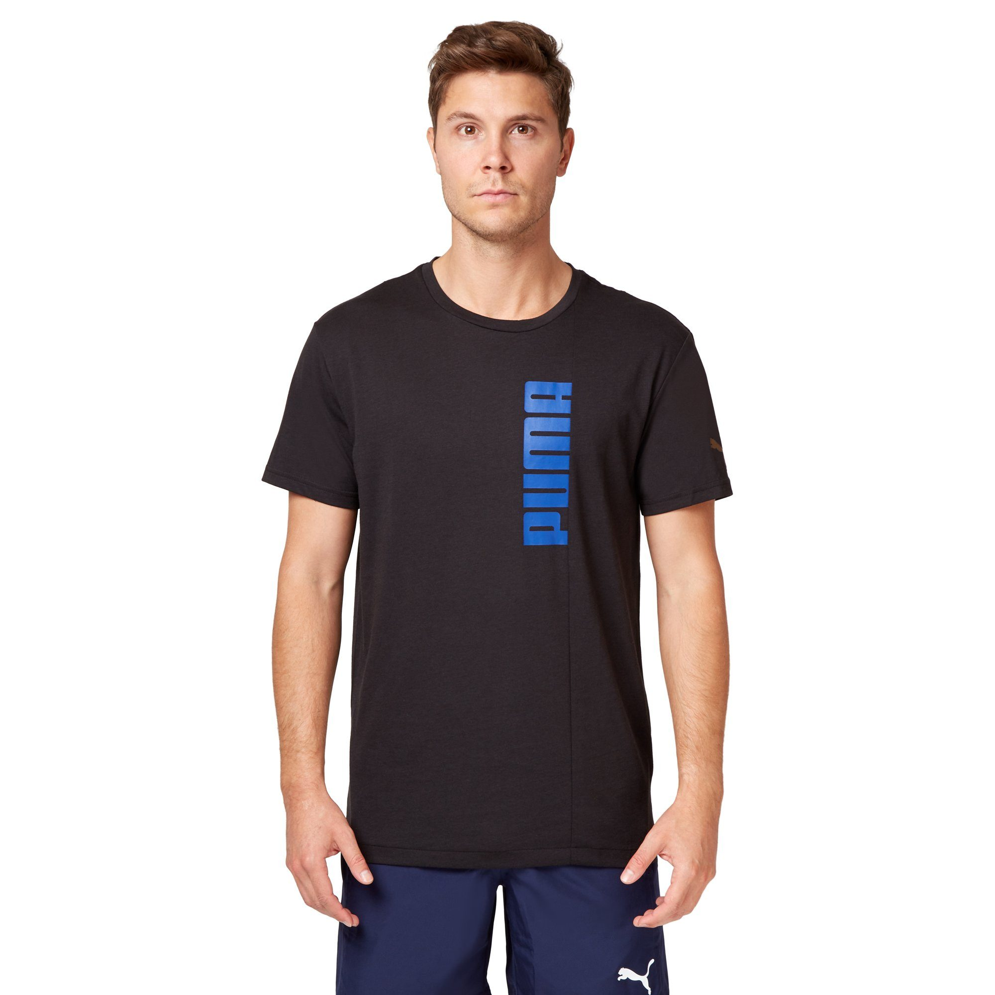 Puma Men's Energy Triblend Graphic Tee - Black Apparel Puma
