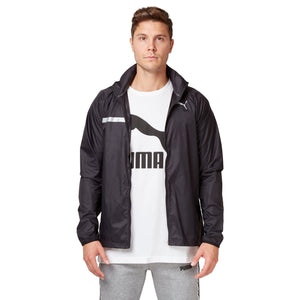 Puma Men's Lightweight Hooded Jacket - Black Apparel Puma