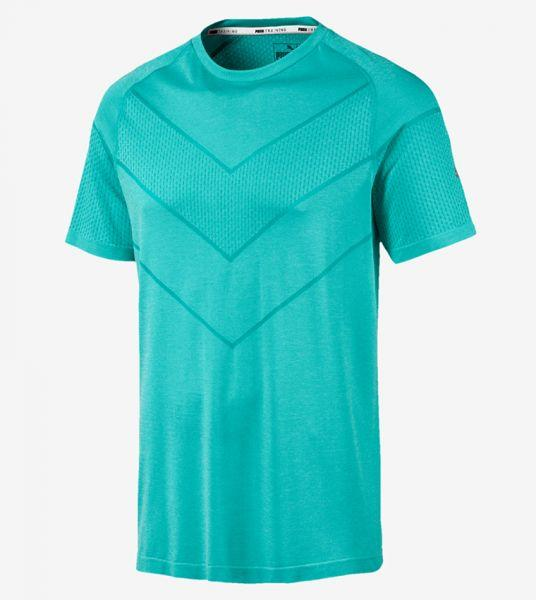 Puma Mens Reactive evoKNIT Tee - Blue Turquoise Heat SP-ApparelTees-Mens Puma