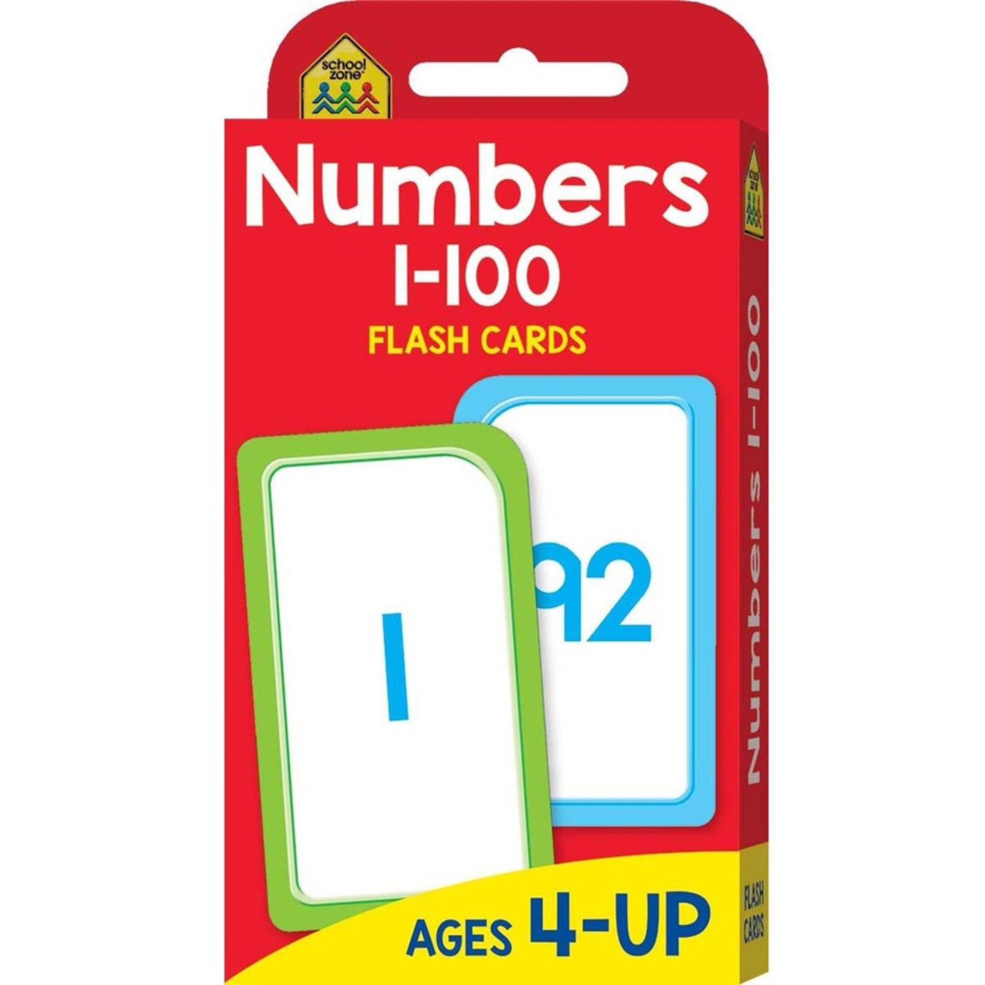 School Zone Giant Workbook (Maths Readiness) & Flashcard Pack (Numbers 1-100) Books Hinkler Books