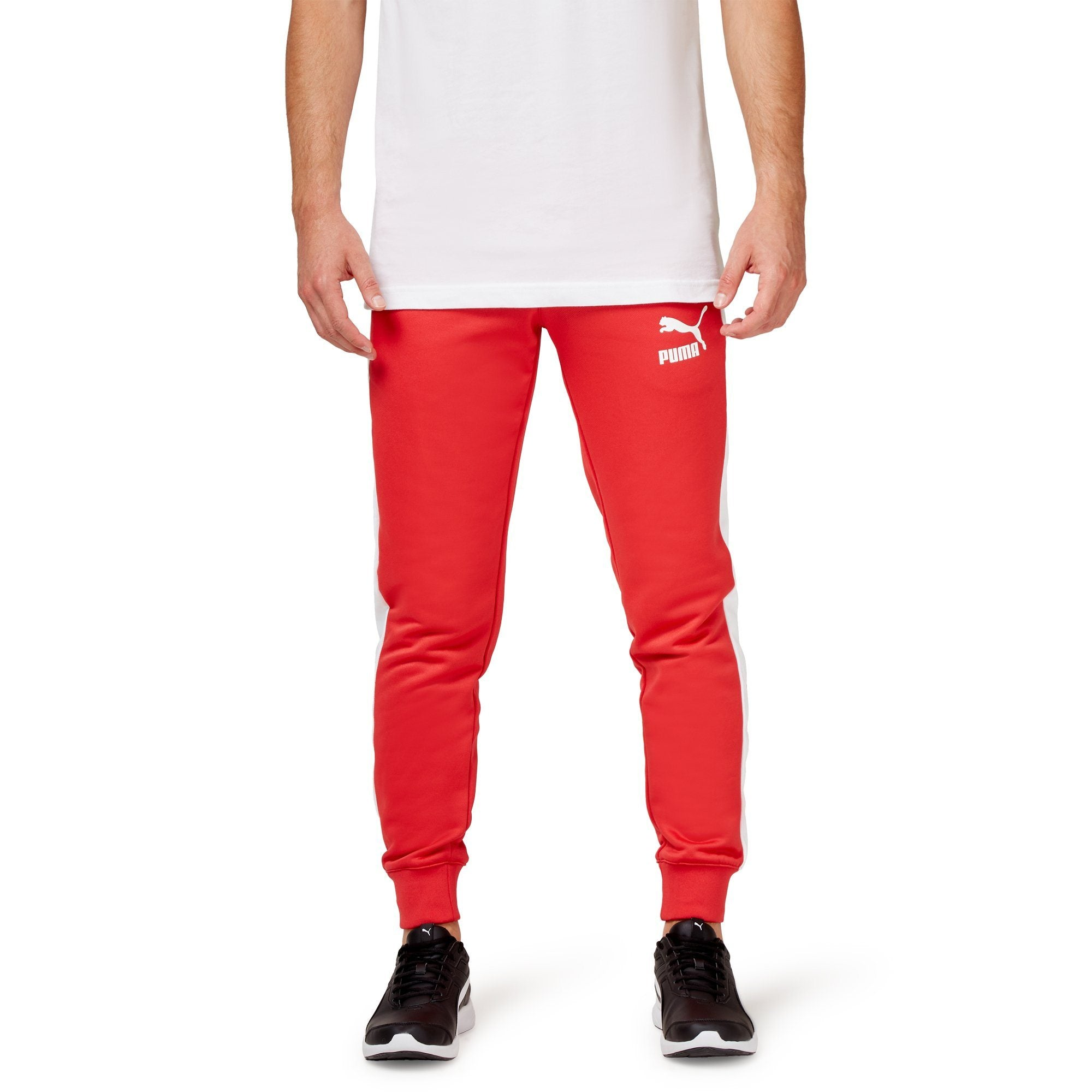 Puma Classics T7 Track Pants - Red Apparel Puma