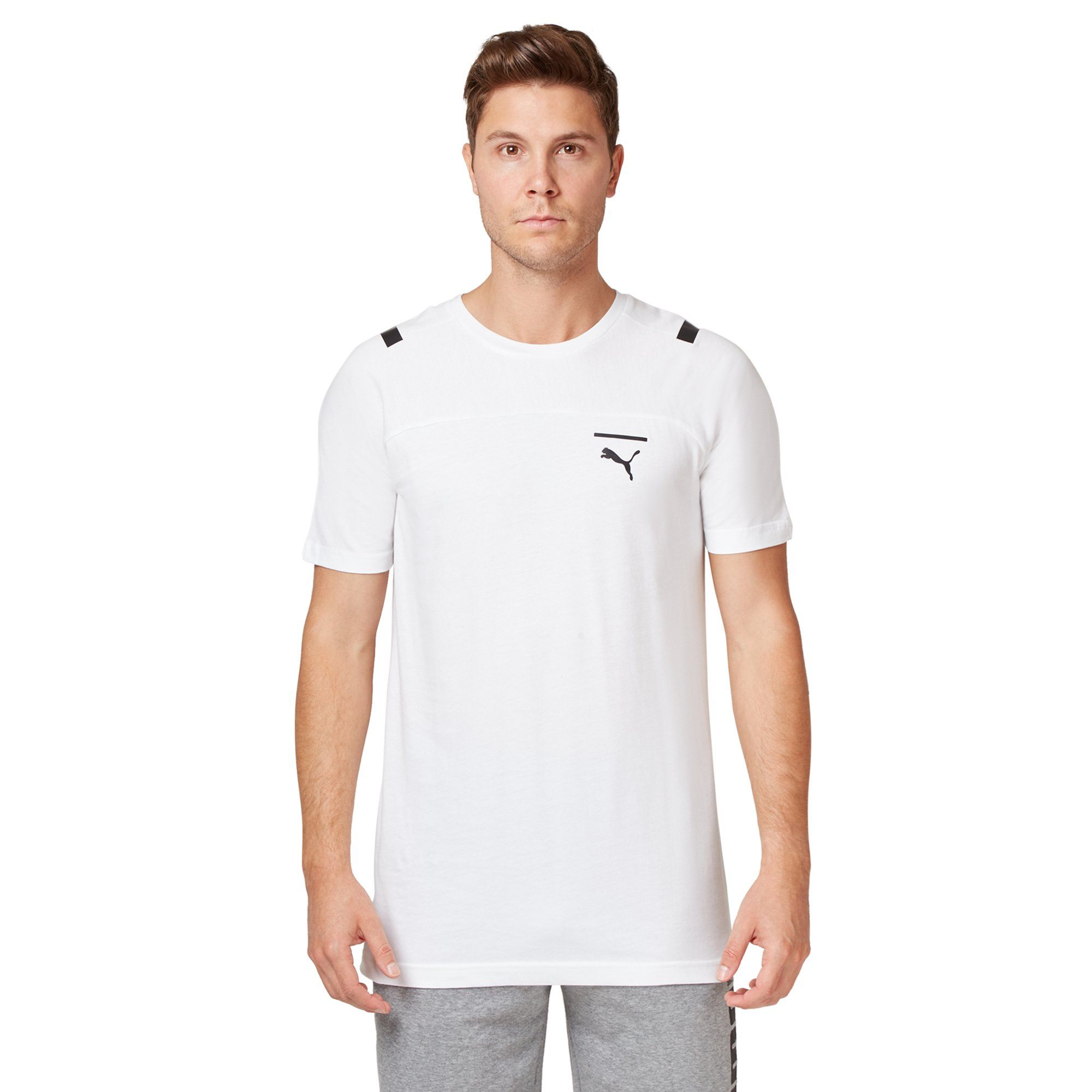 Puma Men's Pace Tee - White Apparel Puma  (2122606084155)