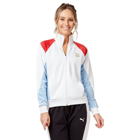 Puma Women's Retro Track Jaket - White Apparel Puma