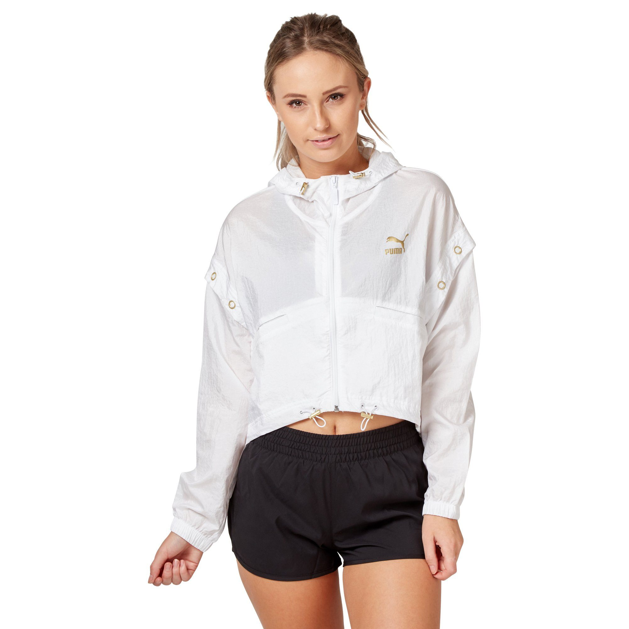 Puma Women's Retro Windrunner Jacket - White Apparel Puma  (2122607951931)