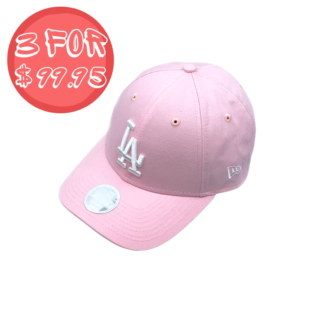 New Era Womens 9Forty Los Angeles Dodgers - Pink/White SP-Headwear-Caps New Era
