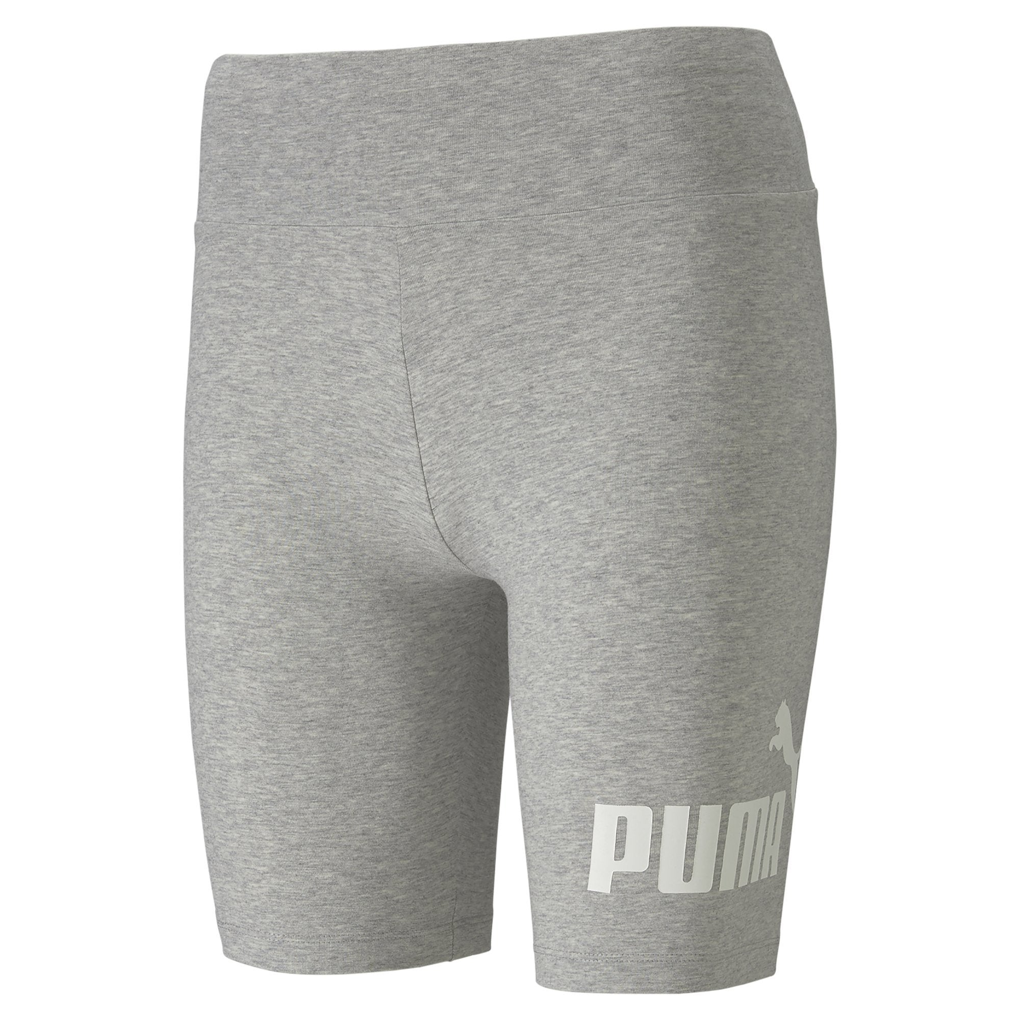 "Puma Eseentials+ Women's 7"" Short Tight - Light Gray Heather SP-ApparelShorts-Womens Puma"