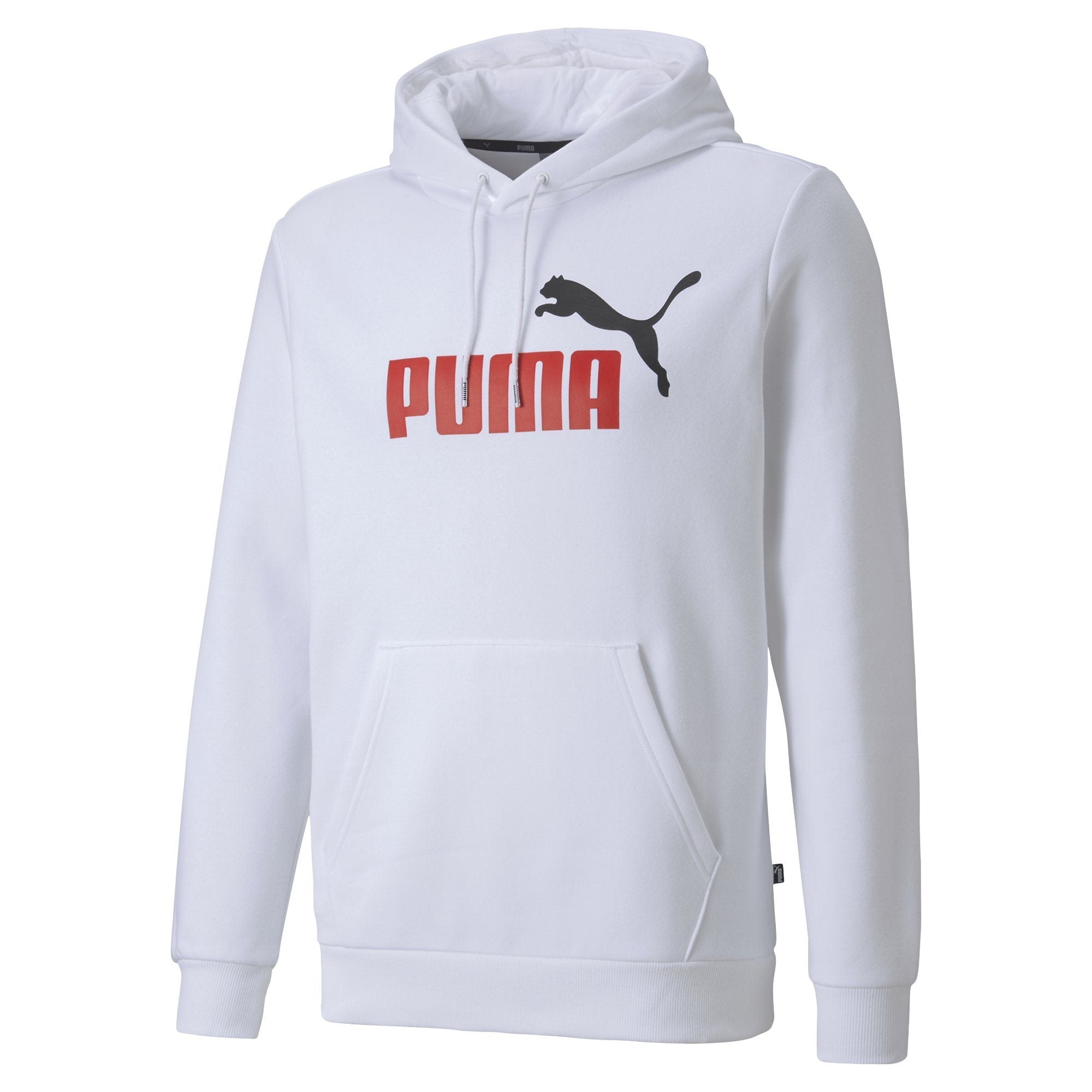 Puma Essentials Men's 2 Colour Hoody Fl Big Logo - Puma White SP-ApparelFleece-Mens Puma