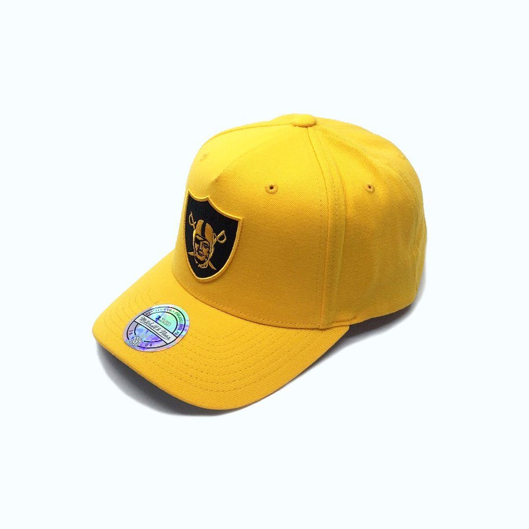 Mitchell & Ness Gold Crown 110 Pinch Panel - Oakland Raiders (Gold) SP-Headwear-Caps Mitchell & Ness