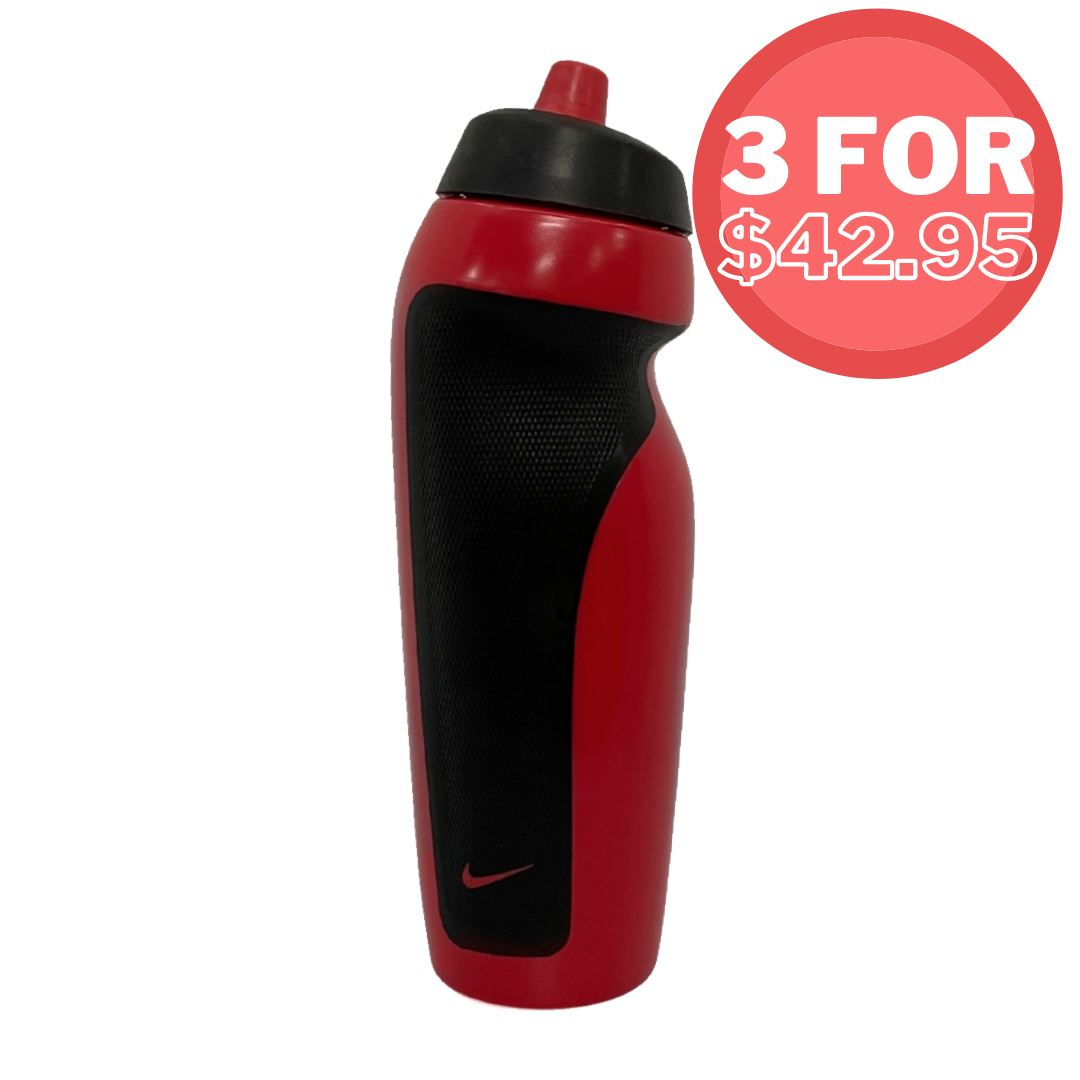 Nike Sport Water Bottle 600ml Red/Black SP-Accessories-DrinkBottles Nike