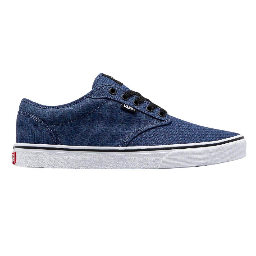 Vans Men's Atwood Crosshatch - True Navy/White SP-Footwear-Mens Vans