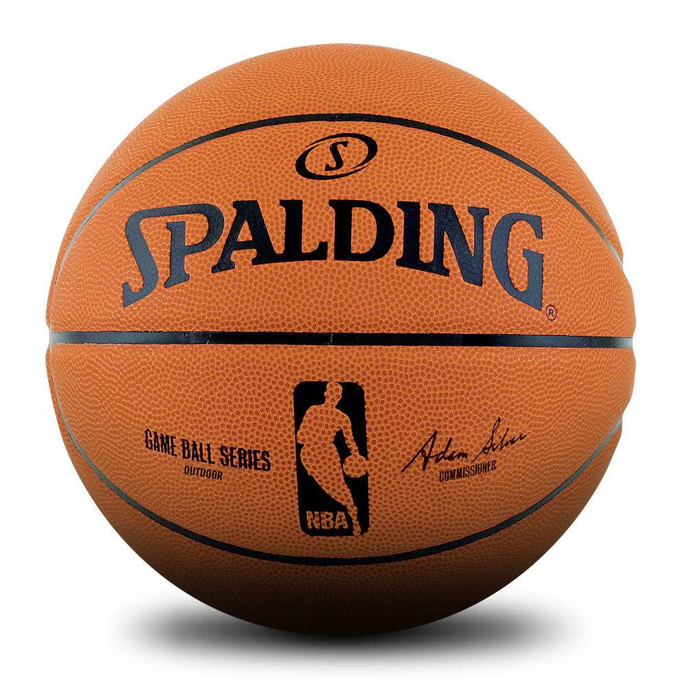 Spalding NBA Rubber Game Ball - Orange - Size 6